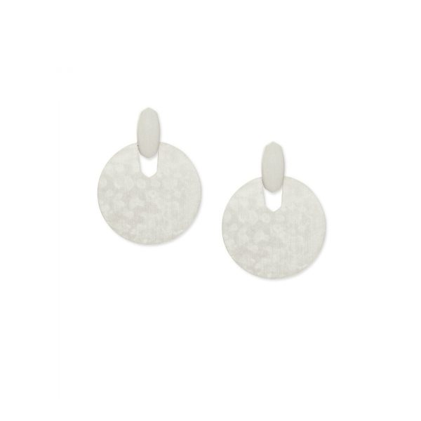 KENDRA SCOTT DIDI EARRINGS IN RHODIUM