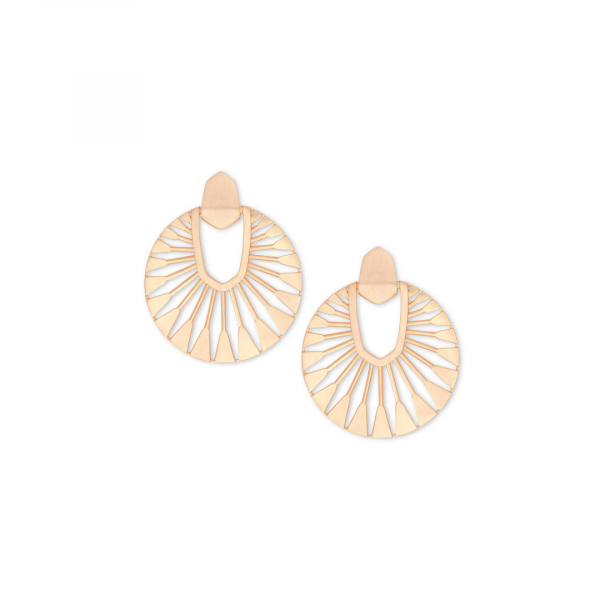 KENDRA SCOTT DIDI SUNBURST EARRINGS IN ROSE GOLD