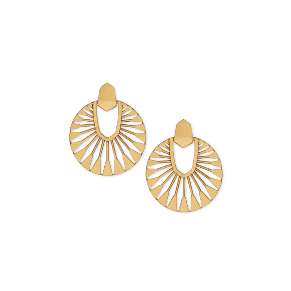 KENDRA SCOTT DIDI SUNBURST EARRINGS IN VINTAGE GOLD