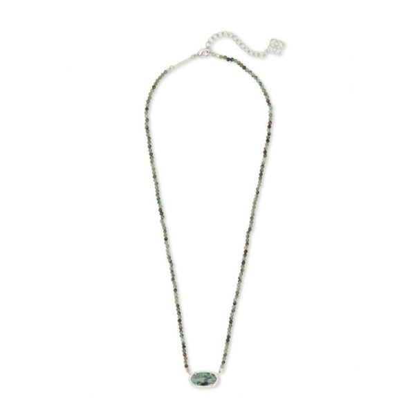 KENDRA SCOTT ELISA BEADED NECKLACE IN RHODIUM