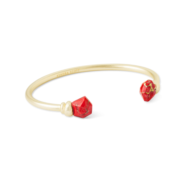 KENDRA SCOTT ELLMS CUFF IN GOLD