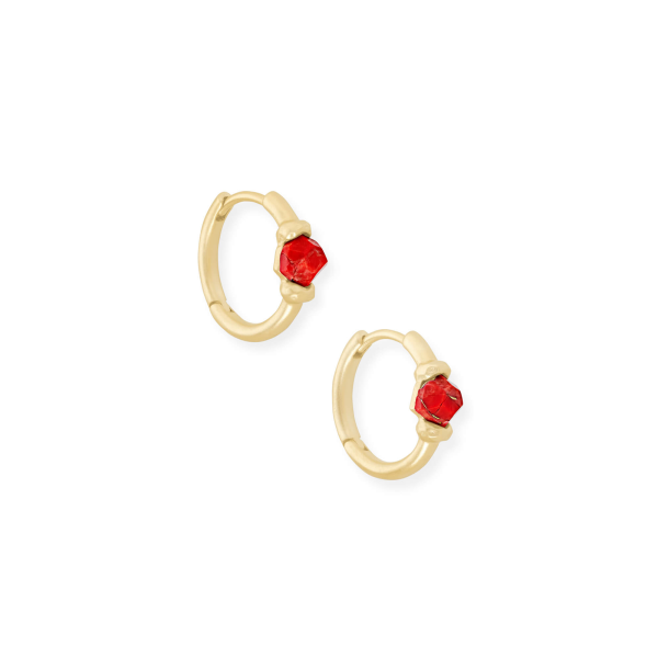 KENDRA SCOTT ELLMS HUGGIE EARRINGS IN GOLD