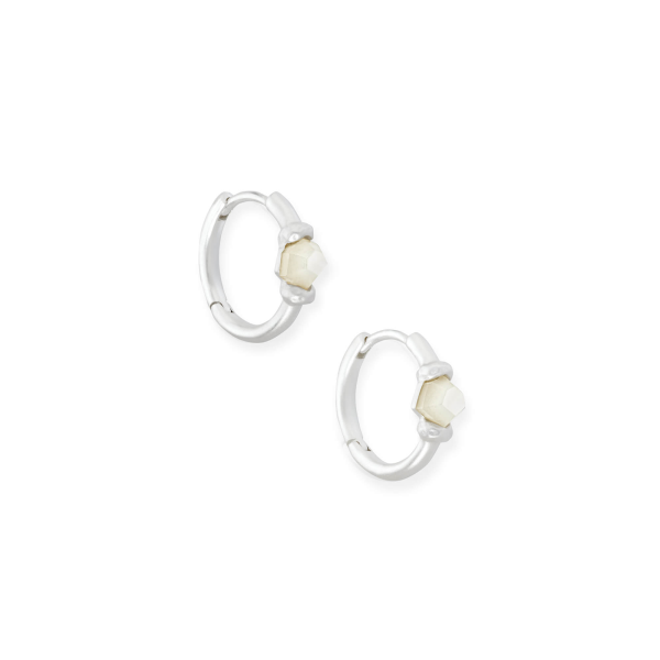 KENDRA SCOTT ELLMS HUGGIE EARRINGS IN SILVER
