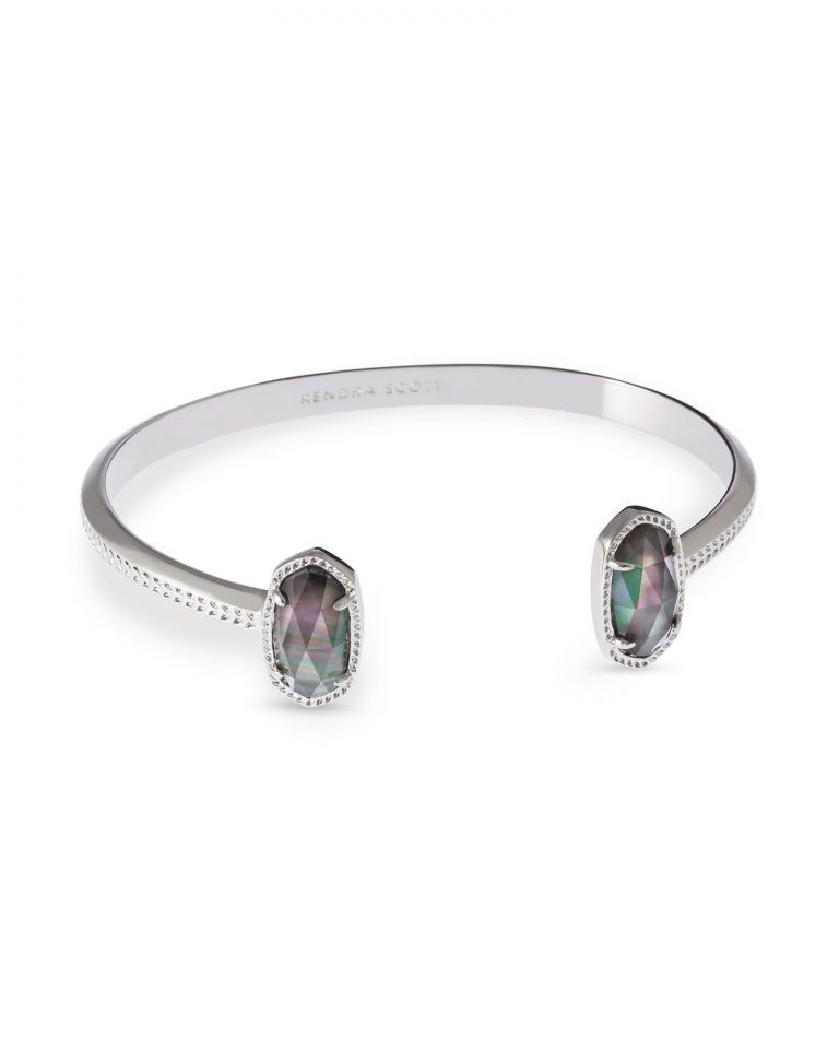 KENDRA SCOTT ELTON BRACELET IN RHODIUM