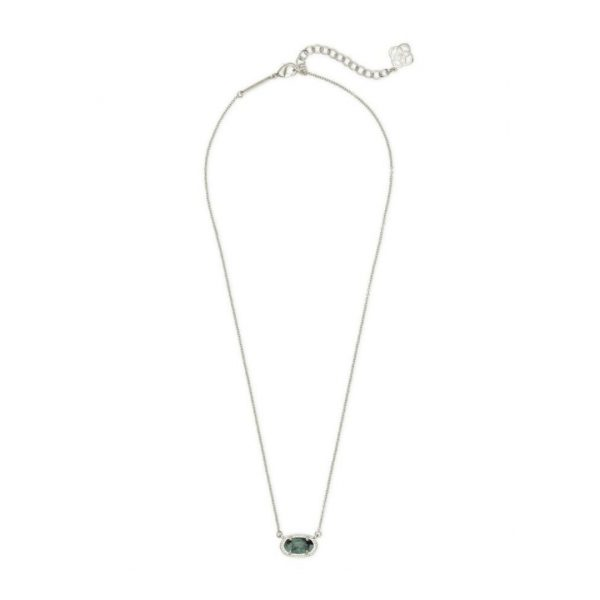 KENDRA SCOTT EMBER NECKLACE IN RHODIUM