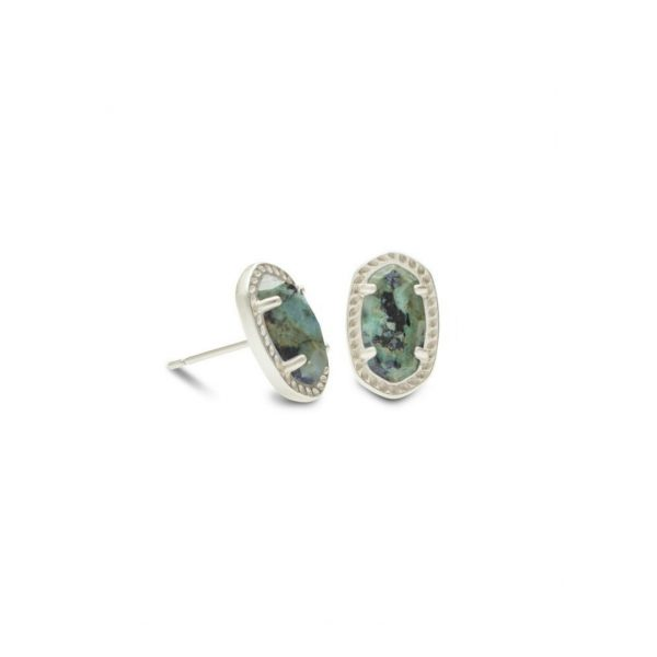 KENDRA SCOTT EMERY EARRINGS IN RHODIUM