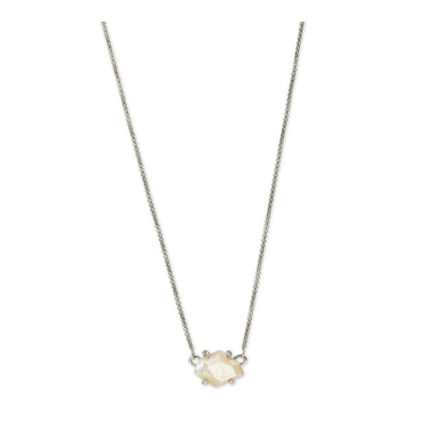 KENDRA SCOTT ETHAN NECKLACE IN RHODIUM