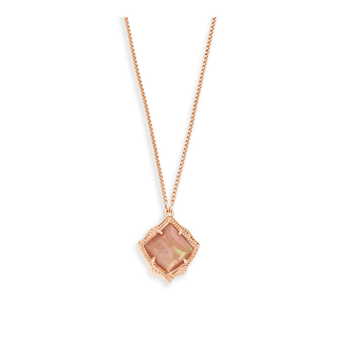 KENDRA SCOTT KACEY NECKLACE IN ROSE GOLD