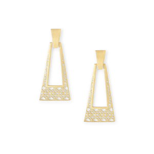 KENDRA SCOTT KASE LARGE EARRINGS IN GOLD