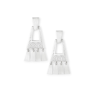 KENDRA SCOTT KASE SMALL EARRINGS IN SILVER