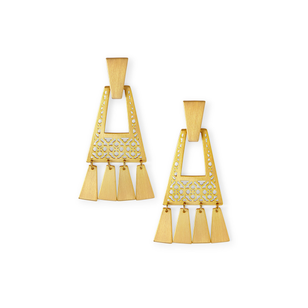 KENDRA SCOTT KASE SMALL EARRINGS IN VINTAGE GOLD