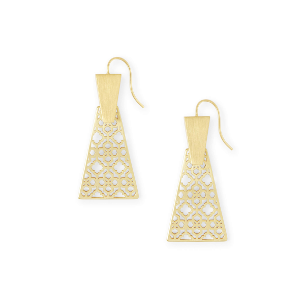 KENDRA SCOTT KEERTI FILIGREE EARRINGS IN GOLD