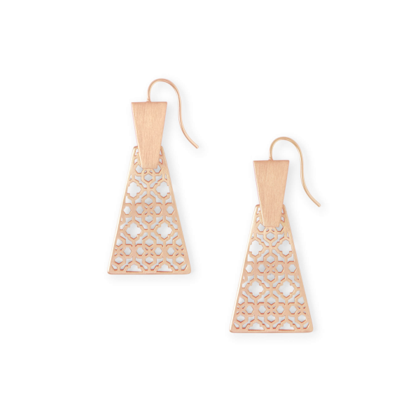 KENDRA SCOTT KEERTI FILIGREE EARRINGS IN ROSE GOLD