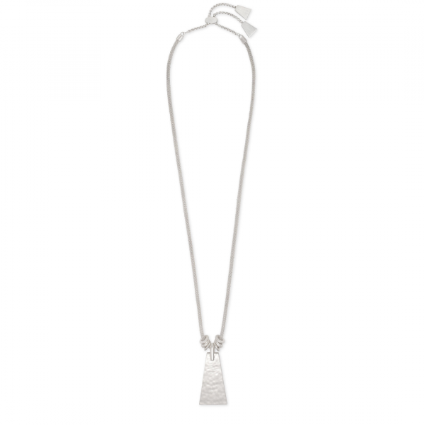 KENDRA SCOTT KEERTI LONG NECKLACE IN SILVER