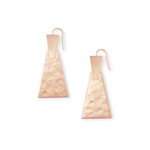 KENDRA SCOTT KEERTI SMALL EARRINGS IN ROSE GOLD