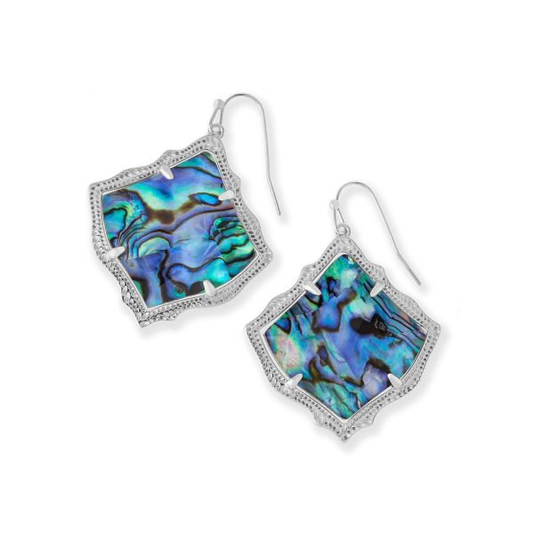 KENDRA SCOTT KIRSTEN EARRINGS IN RHODIUM