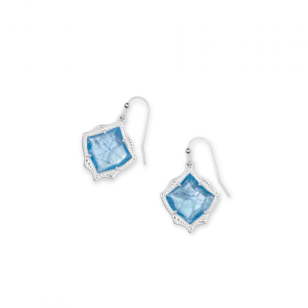 KENDRA SCOTT KYRIE EARRINGS IN SILVER