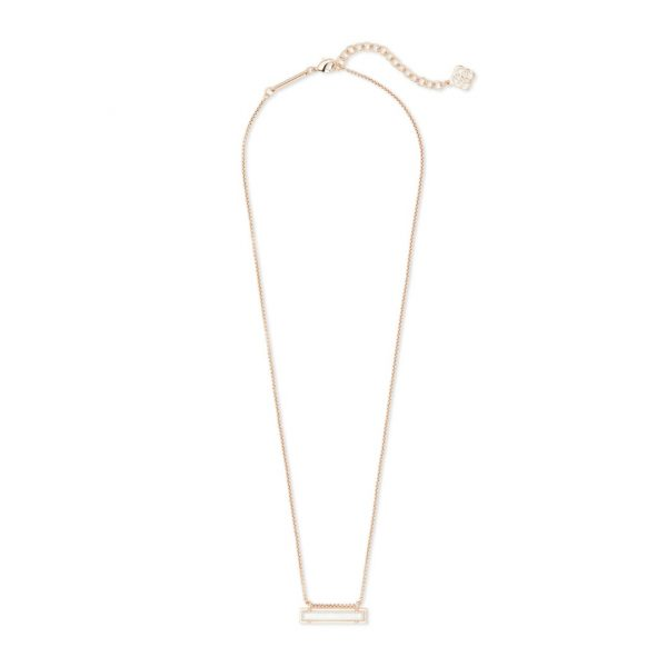 KENDRA SCOTT LEANOR NECKLACE IN ROSE GOLD