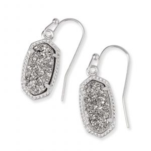 KENDRA SCOTT LEE EARRINGS IN RHODIUM
