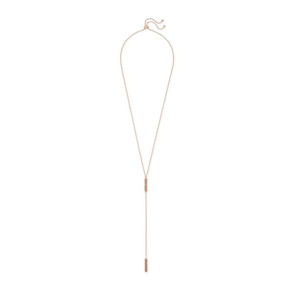 KENDRA SCOTT LILLY DRUSY NECKLACE IN ROSE GOLD