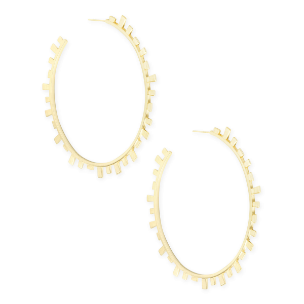 KENDRA SCOTT LYNNE HOOP EARRINGS IN GOLD