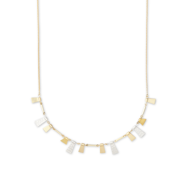 KENDRA SCOTT LYNNE SHORT NECKLACE IN MIXED METALS