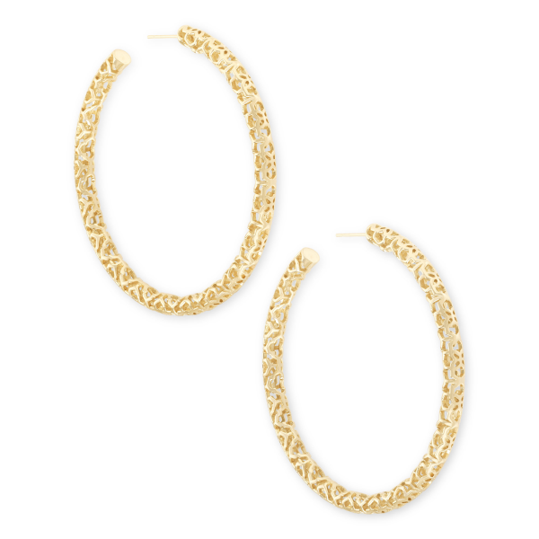 KENDRA SCOTT MAGGIE LARGE HOOP IN GOLD