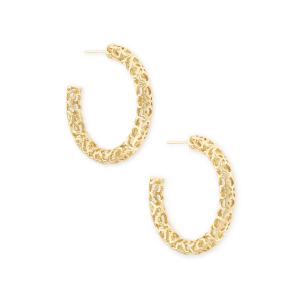 KENDRA SCOTT MAGGIE SMALL HOOPS IN GOLD