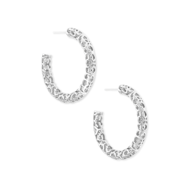 KENDRA SCOTT MAGGIE SMALL HOOPS IN SILVER