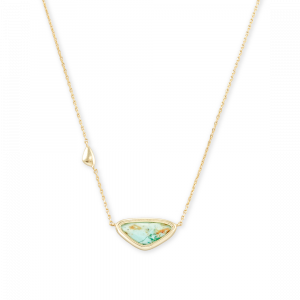 KENDRA SCOTT MARGOT SMALL PENDANT NECKLACE IN GOLD