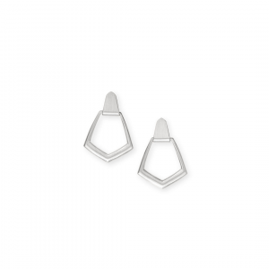 KENDRA SCOTT PAXTON EARRINGS IN SILVER