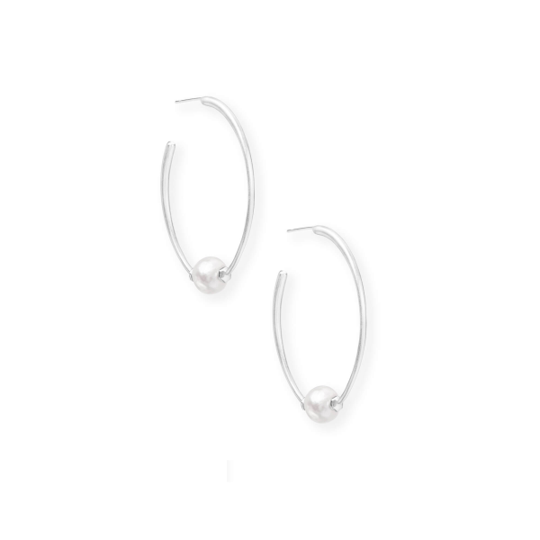 KENDRA SCOTT REGINA EARRINGS IN SILVER
