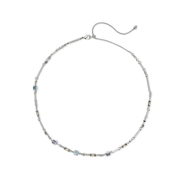 KENDRA SCOTT RHETT NECKLACE IN RHODIUM