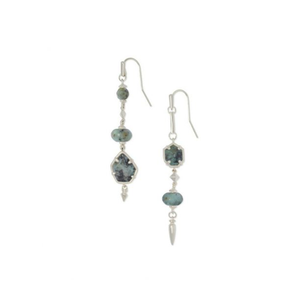 KENDRA SCOTT RHYS EARRINGS IN RHODIUM