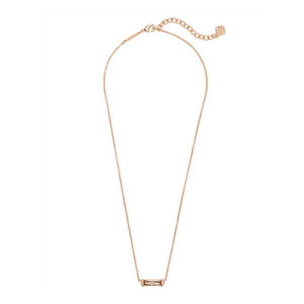 KENDRA SCOTT RUFUS NECKLACE IN ROSE GOLD