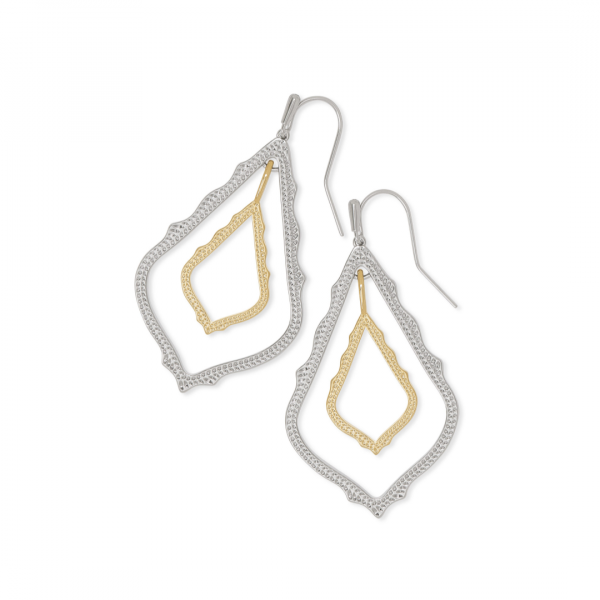KENDRA SCOTT SIMON EARRINGS IN GOLD AND RHODIUM