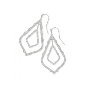 KENDRA SCOTT SIMON EARRINGS IN RHODIUM
