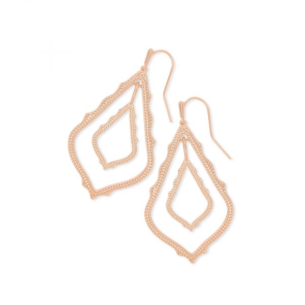 KENDRA SCOTT SIMON EARRINGS IN ROSE GOLD