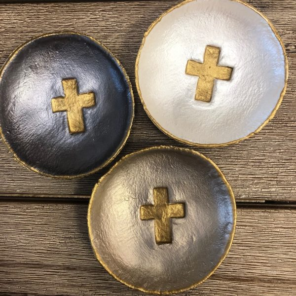 LARGE CROSS BLESSING BOWLS