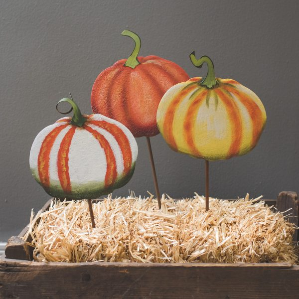 LARGE FALL IMPRESSION GOURDS