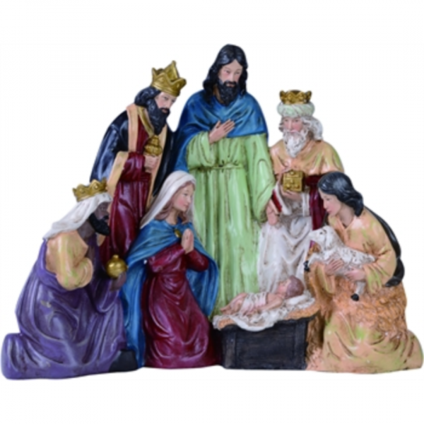 LARGE RESIN NATIVITY