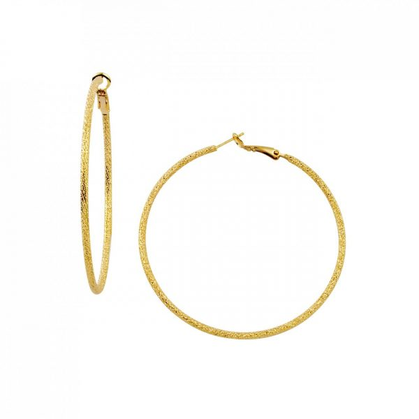 LISA FREEDE LARGE STARDUST HOOP EARRINGS