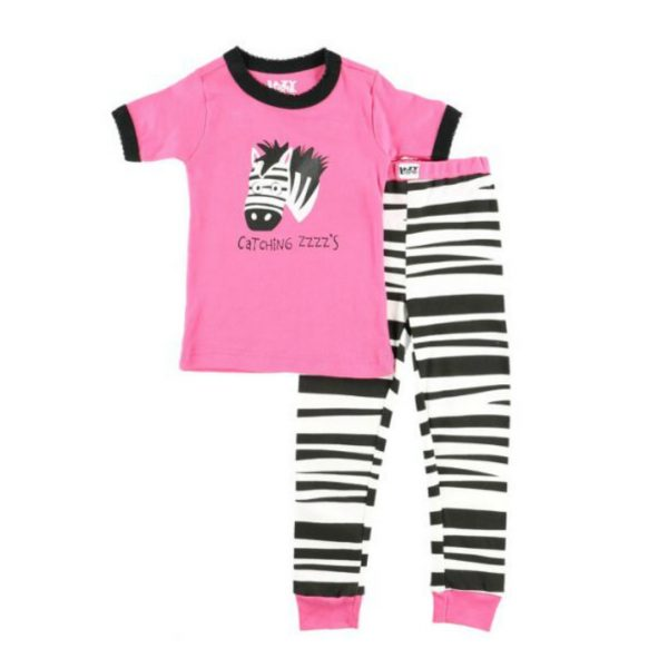 LAZY ONES CATCHING SOME ZZZS ZEBRA KIDS PJ SET