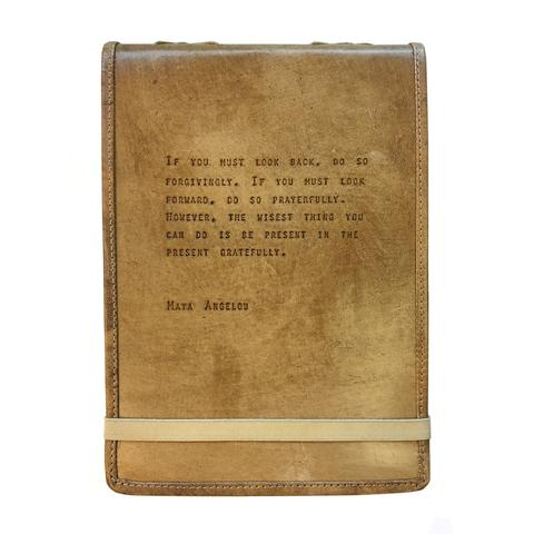 LEATHER JOURNAL - MAYA ANGELOU