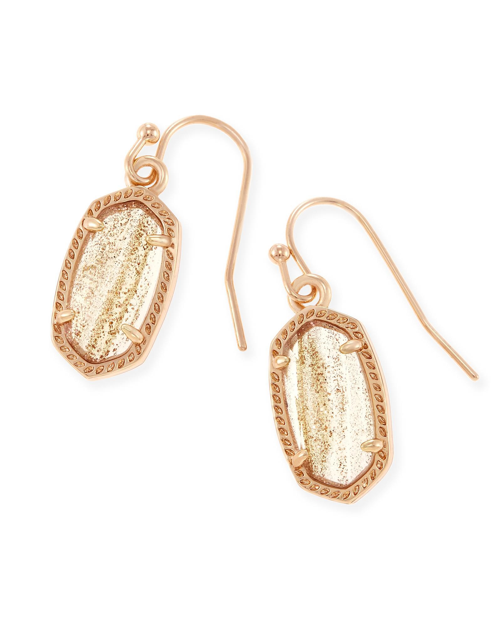 KENDRA SCOTT LEE EARRINGS IN ROSE GOLD