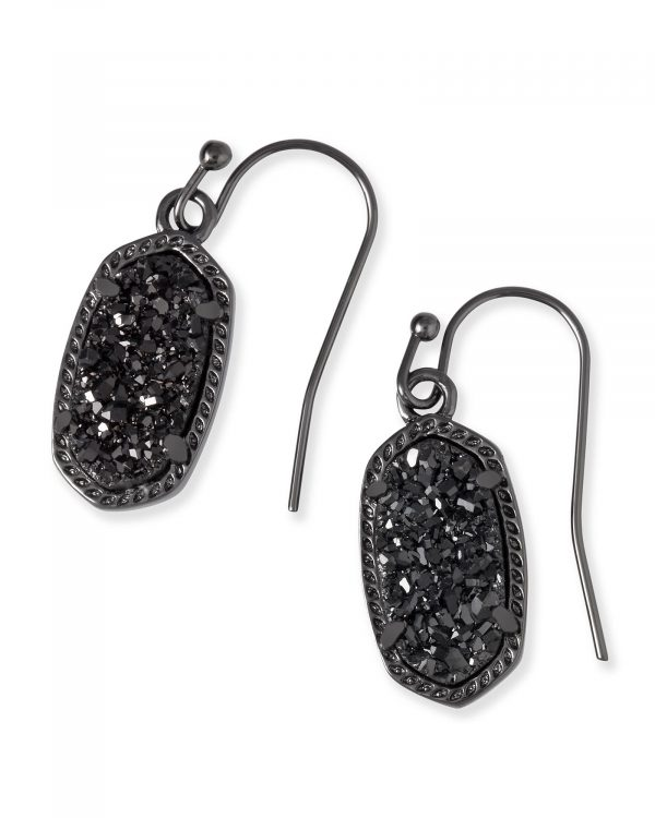 KENDRA SCOTT LEE EARRINGS IN GUNMETAL
