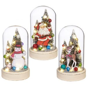 LIGHTED VINTAGE CHRISTMAS CLOCHE