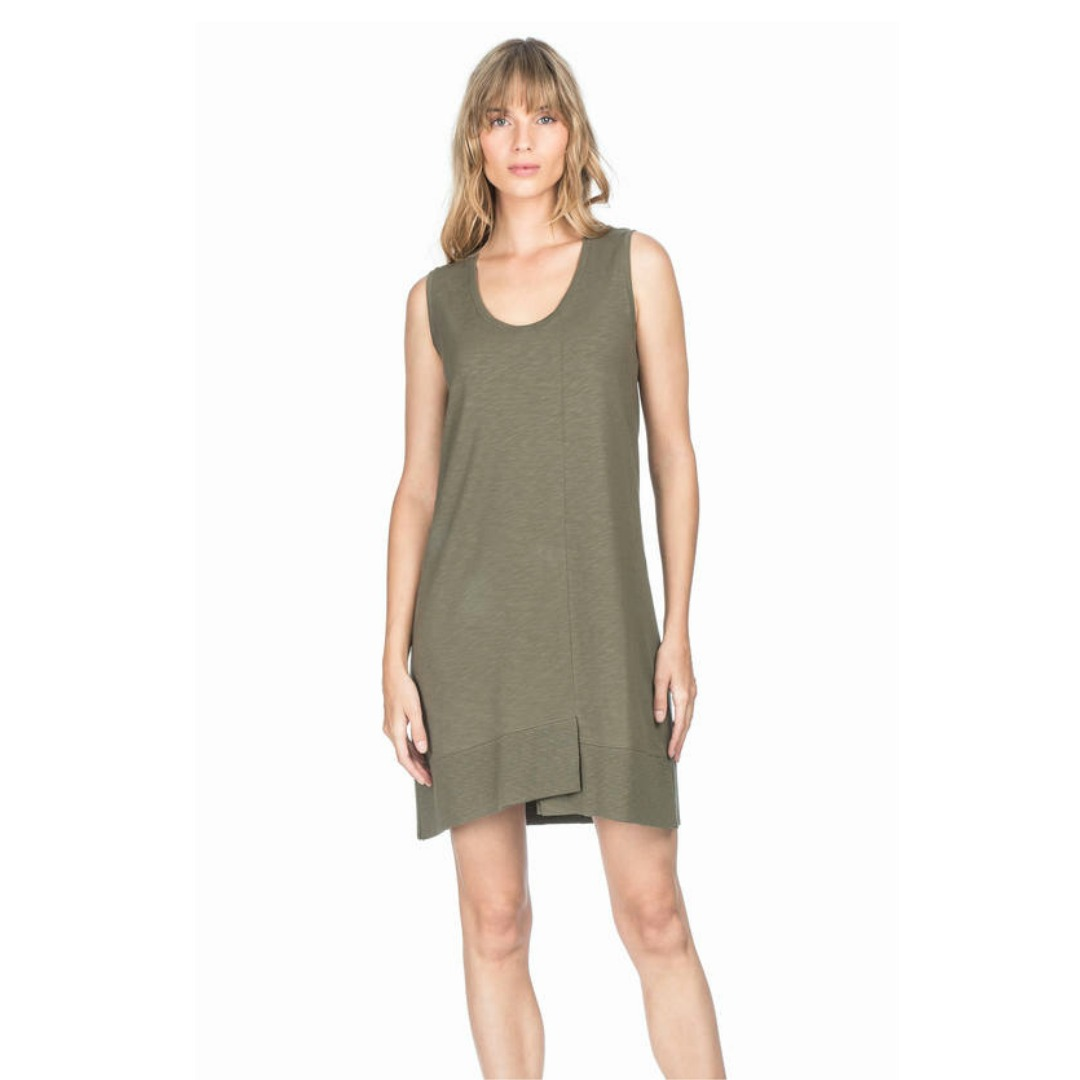 LILLA P KALE RIB HEM DRESS