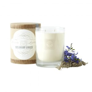 LINNEA'S LIGHT BELGIAN LINEN 2-WICK CANDLE