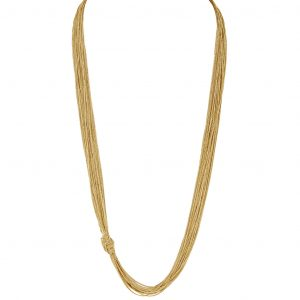LISA FREEDE SILK CHAIN KNOT NECKLACE